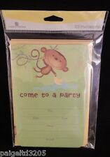 "American Greetings ""Monkey"" Come to a Party Birthday Invitation Cards,10 ct"