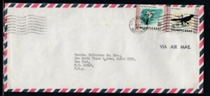 MONTSERRAT Commercial Cover Plymouth to World Trade Center 19-8-1975 Cancel