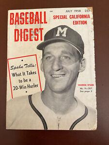 July 1958 Baseball Digest