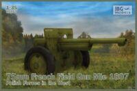 75mm FRENCH FIELD GUN Mle 1897 (BRITISH QF 75mm MK.1) #35057 1/35 IBG BRAND NEW