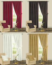 Chenille Contemporary Curtains & Pelmets with Pencil Pleat