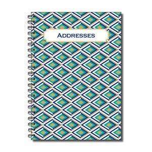 Cherry Printers Designer Range Address Book A5 52 double sided pages Wirobound