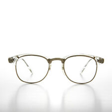 Clear Browline Horn Rim Vintage Glasses - Sanders