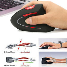 2.4GHz Wireless Ergonomic Optical Mouse Mice with USB Receiver 6 Buttons