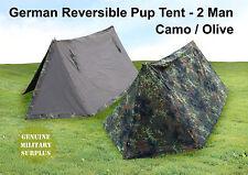 Genuine Surplus German Armed Forces Camo Tent Canvas Tough 2 Man Flektarn Grade1