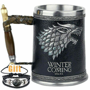 Hot sale 3D Game of Thrones Winter is coming original Mug Goblet Stainless Steel