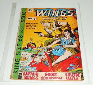 WINGS COMICS no.3 Trent / Fiction House 1952 Jungle Sheena VERY RARE UK EDITION
