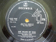 SOLOMON KING = SHE WEARS MY RING / I GET THAT FEELING OVER YOU - COLUMBIA  1967