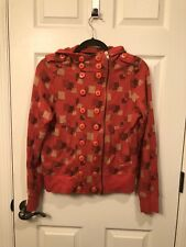 Womens Marc by MARC JACOBS Colorful/Squares Hood Hoodie  Zip Jacket Size L Large