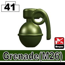 Tank Green Frag Grenade (W213) compatible with toy brick minifigures SWAT ARMY