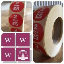 Promotional display point of sale price stickers 2 for £5