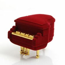 Treasure Jewelry Earring Pendant Velvet Piano Ring Box Gift Case Storage Box