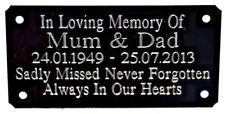 PERSONALISED MEMORIAL BENCH PLAQUE ENGRAVED GRAVE MARKER SIGN 85mm X 45mm