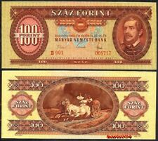 HUNGARY 100 FORINT 1968 P171d UNCIRCULATED