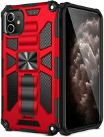 For iPhone 11 Pro Max Hybrid Rugged Dual Layer Case Protective Armor Stand Cover