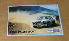 * Ford Escort Rallye Sport Brochure 1977 - Escort RS2000 & RS Mexico - X Kit *