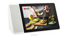 "Lenovo - 8"" Smart Display with Google Home Assistant - White Front/Gray Back"