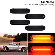 For 1990-2005 Mazda Miata MX-5 Front/Rear LED Side Marker Light lamp Smoked Lens