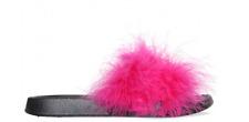 Essex Schönheit Patrol fuchsia pink/schwarz Regler UK 7 EU 41 LG077 BB 09