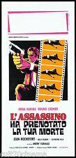 L'ASSASSINO HA PRENOTATO LA TUA MORTE LOCANDINA CINEMA 1969 LE TEMPS DE MOURIR