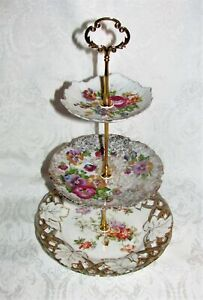 Custom Three Tier Tea Party Cake Stand Made With Vintage Plates Child Size