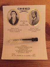 Green Irish Tweed Creed Factory Sample Vintage Cologne EdP 0.07 oz (2 ml)