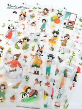 Kawaii Stickers Heeda Outdoor 6 Sheets Diary Journal Scrapbook Planner Supplies