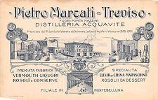 Cartolina - Postcard - Illustrata - Distillerie - Pietro Marcali - Treviso