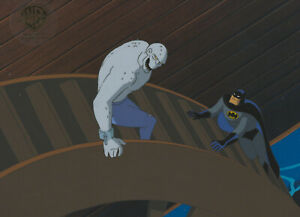 Batman Animated Series- Original Production Cel-Batman/Killer Croc-Sideshow