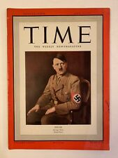 Vintage Time Magazine April 14 1941 - Hitler Sitting Cover - WWII - MUST LOOK!!!