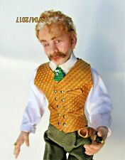 ARTISIAN DOLLHOUSE SCULPTED MINIATURE VERY HANDSOME GENTLEMAN SEATED WITH PIPE