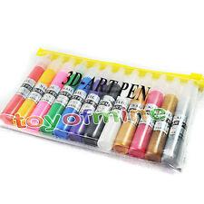 12 colores de pintura 3D Gel UV Pen kit de uñas de arte l consejos clippers