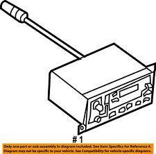 Jeep CHRYSLER OEM-Stereo Audio Radio Dash Head Unit-Am/fm Radio 5091650AB