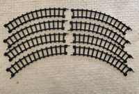 """8 PC Curved Vintage Durham's Freight Train Set Replacement Part 12"""" Track AS IS"""