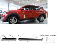 Zierleiste Seitenschutz Türschutz Leisten Rammschutz für Hyundai Tucson 2015-