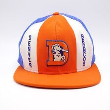 Denver Broncos Old Logo Trucker hat  93-96 Lucky Stripes brand Made in USA Sz L