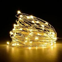 Micro Rice Wire 10M 100 LED Fairy String Light Garden Home Decor Christmas Party
