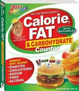 Allan Borushek Calorie Counter Fat Carbohydrate Diet Guide Book with Kilojoules