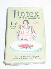 Vintage Box Tintex Clothes Dye Black Unused Contents and Instruction GREAT!!