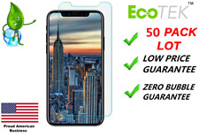 50x Wholesale Bulk Lot Tempered Glass Screen Protector for Apple iPhone X 5.8""