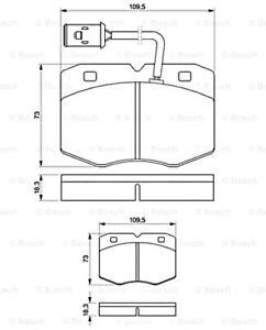 Disc Brake Pad Set BOSCH Fits IVECO Daily II 0986424240