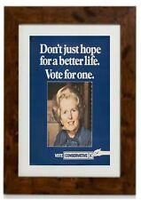 Margaret Thatcher Conservative Party Election Poster Framed Print