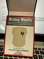 MICKEY MANTLE 1985 FANTASY CAMP WORN JERSEY