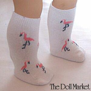 "New - Flamingo Socks #WD1302 fits 18"" American Girl Dolls"