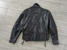 vintage cruiser HARLEY DAVIDSON leather EMBOSSED eagle M black jacket motorcycle