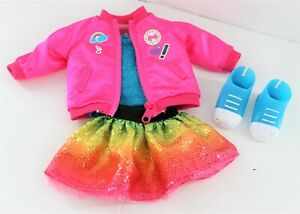 """My Life 18"""" Doll Jojo Siwa Clothes Outfit Pink Jacket Sequin Skirt Blue Shoes"""