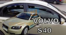 DVO31233 VOLVO S40 4-türer 2004-2012 HEKO Windabweiser dunkel 2-tlg Satz