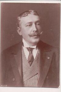 Vintage Photo de Presse J.G.Heckshaw ?? Grand Mustache & Suit Politicien ??