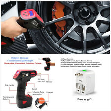 Multifunction Plug+ Handheld 12V Rechargeable Car Autos Tire Air Inflatable Pump
