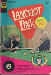 LANCELOT LINK SECRET CHIMP #5 1972 WHITMAN GOOD CONDITION